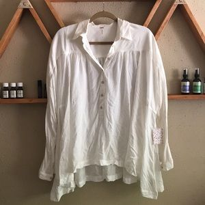 Free People Lovely Day button down shirt